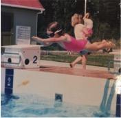 Child dive in